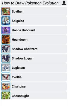 How to Draw Pokemon Evolution apk screenshot