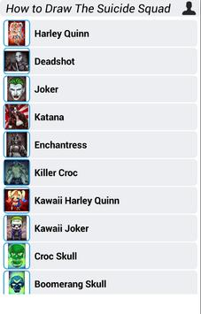 How to Draw The Suicide Squad apk screenshot