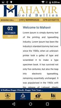 Mahavir Gold Bullion apk screenshot