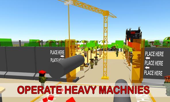 Army Border Wall Construction Game screenshot 3