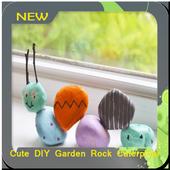 Cute DIY Garden Rock Caterpillar icon