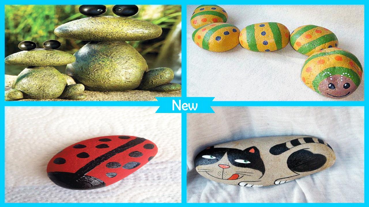 Cute DIY Garden Rock Caterpillar poster