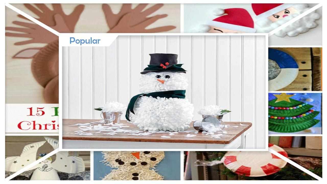 Easy DIY Tissue Paper Snowman Craft poster