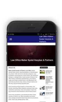 Maher Syalal Hasybas & Partners apk screenshot