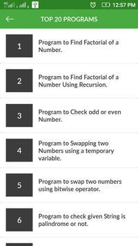 Technical Interview Programs & Solution apk screenshot