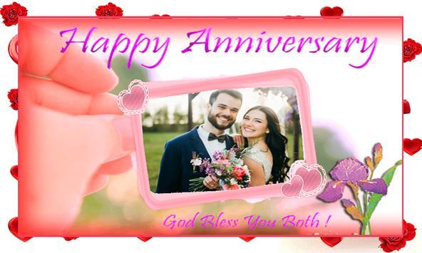 Hy Wedding Anniversary Photo Frames Poster Screenshot 1