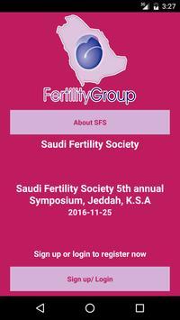 Saudi Fertility Group poster