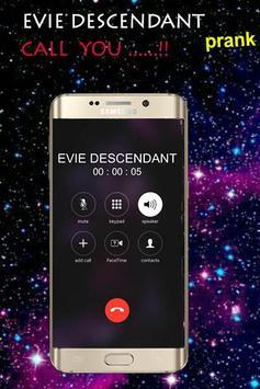 Fake call from Evie Descendant screenshot 1