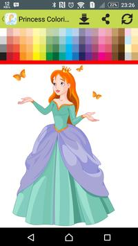Princess Coloring Book Poster Apk Screenshot