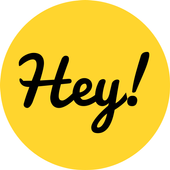 Hey! Send real photo postcards icon