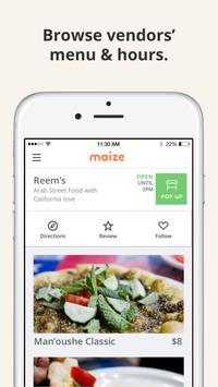 Maize - Bay Area Street Food 스크린샷 1