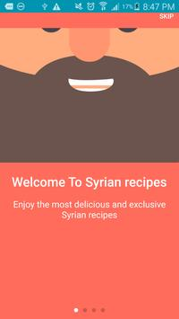 Quick Syrian recipes poster