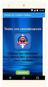 Québec Permis de conduire Examen En Français poster