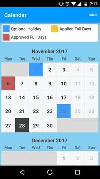 Mobile Aspects LeaveManagement screenshot 3