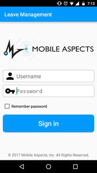Mobile Aspects LeaveManagement poster