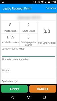 Mobile Aspects LeaveManagement screenshot 2