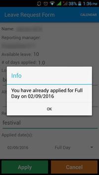 Mobile Aspects LeaveManagement apk screenshot