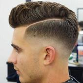 male hair styling design icon