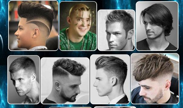 male hair styling design poster