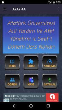 ATAUNİ AYAY 4A poster