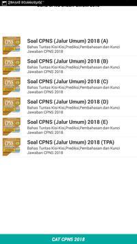 Soal CPNS JALUR UMUM 2018 Offline poster
