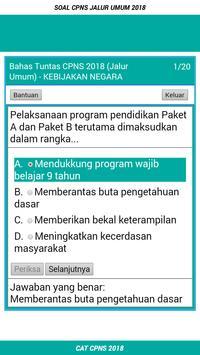 Soal CPNS JALUR UMUM 2018 Offline apk screenshot