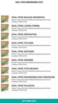 Soal CPNS KEMENDIKBUD 2018 Offline apk screenshot