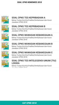 Soal CPNS KEMENKES 2018 Offline apk screenshot