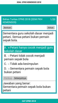 Soal CPNS SDM PKH KEMENSOS 2018 Offline screenshot 1