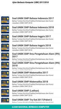 Soal UNBK SMP 2018 Offline poster