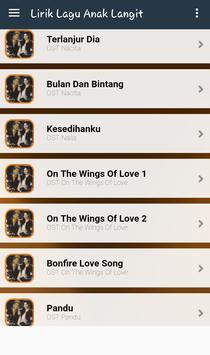 Daftar Lagu Anak Langit apk screenshot