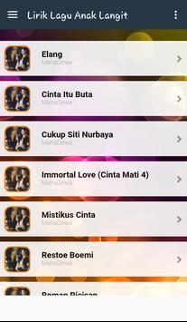 Lyric Anak Langit Terlengkap poster