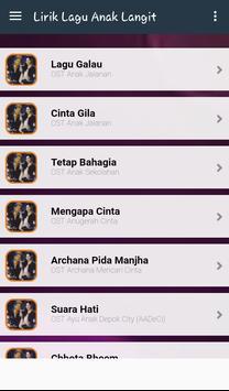Lyric Anak Langit Terlengkap apk screenshot