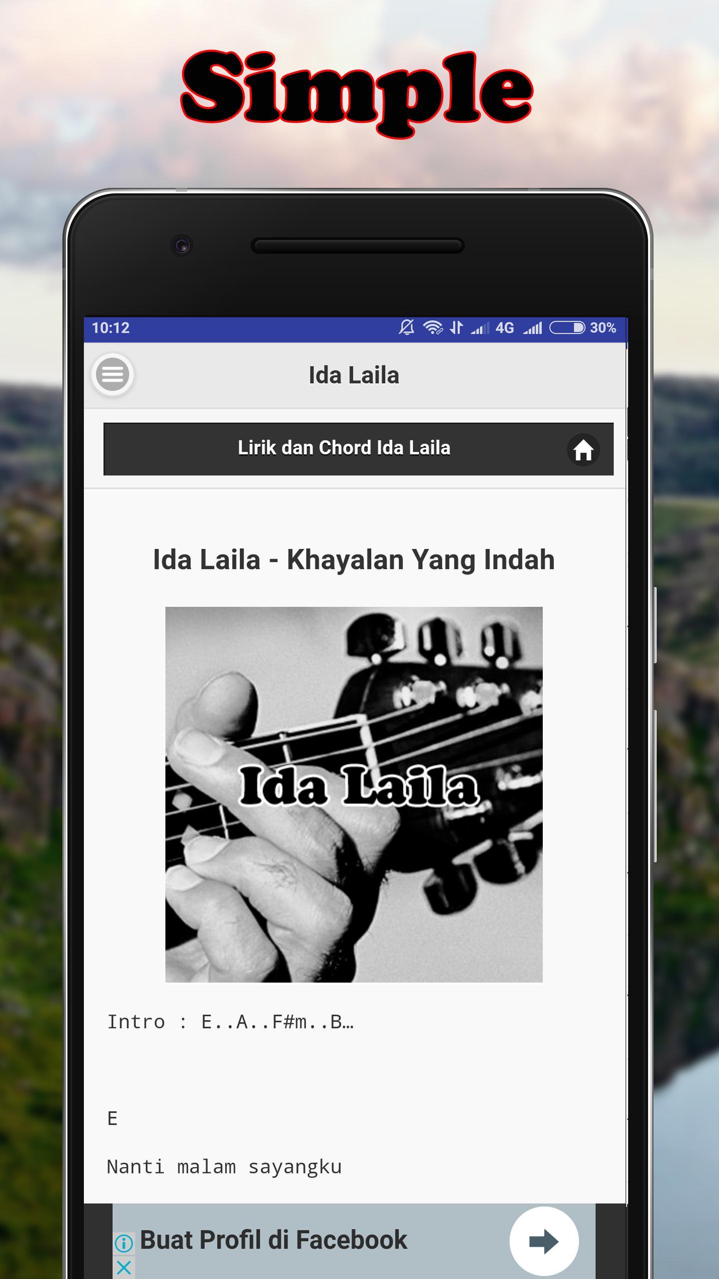 Kunci Gitar Ida Laila poster