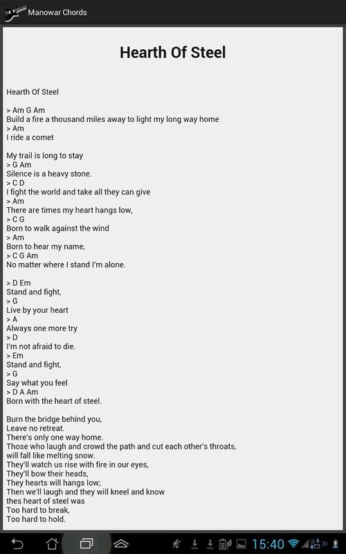 Manowar Lyrics and Chords APK Download - Free Music & Audio APP for ...
