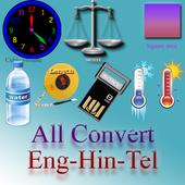 Converter English Hindi Telugu icon
