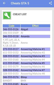 Cheats GTA 5 screenshot 2
