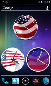 USA Clock Widgets poster