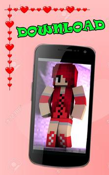 Skins for girls minecraft pe poster