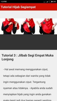Tutorial Hijab Segi Empat Terbaru 2017/2018 screenshot 2