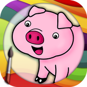 Coloring Book - Farm Animals icon