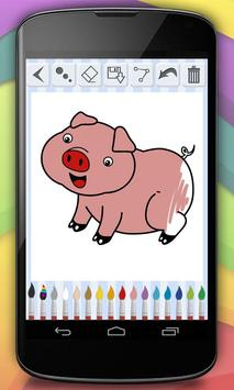 Coloring Book - Farm Animals poster