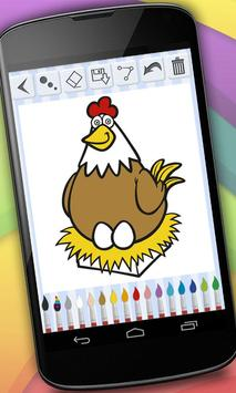 Coloring Book - Farm Animals screenshot 2