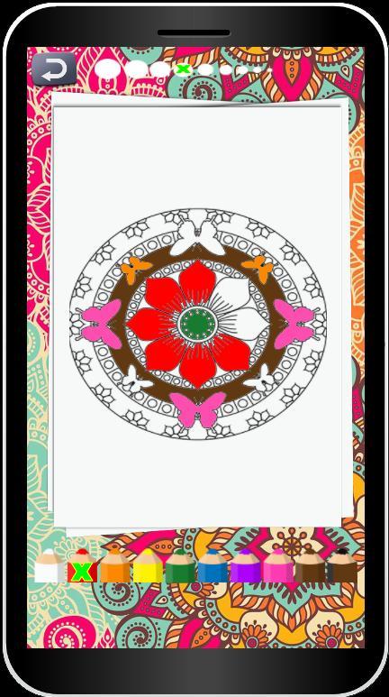 Coloring Book Mandala poster