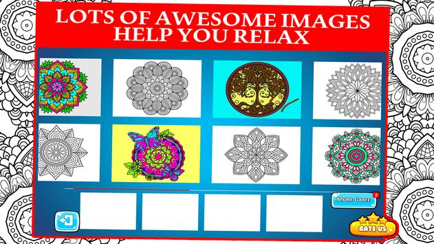 Mandala Coloring Book For Adults And Kids Poster