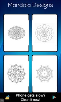 Mandala Designs Colouring Book apk screenshot