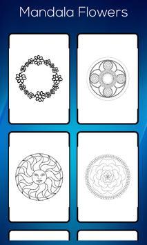 Mandala Flower Colouring Book apk screenshot