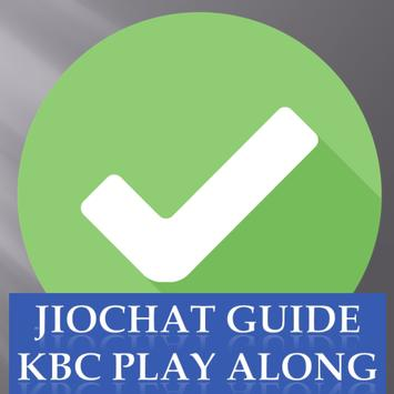 Guide for JioChat with Play KBC along poster