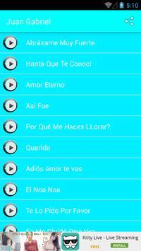 Juan Gabriel - Canciones apk screenshot