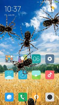 Spider in phone prank poster